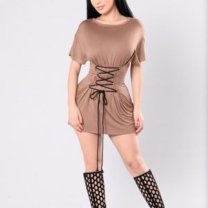 Fashion Nova Nude Dress
